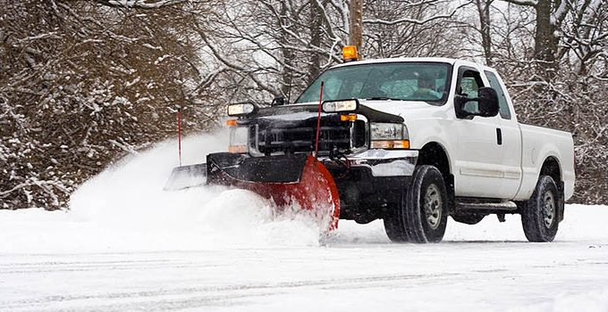 How to Plow Snow with a Truck