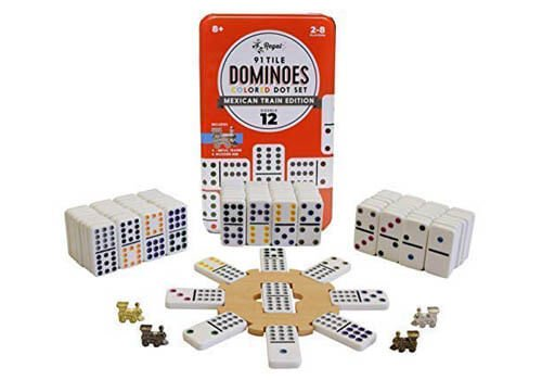 Regal Games Double 12 Mexican Train Dominoes Set