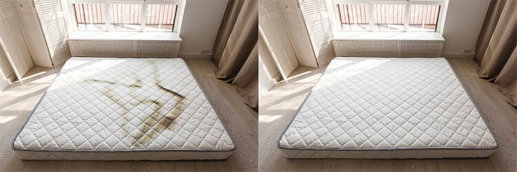 Stain Remover For Mattress Before and After