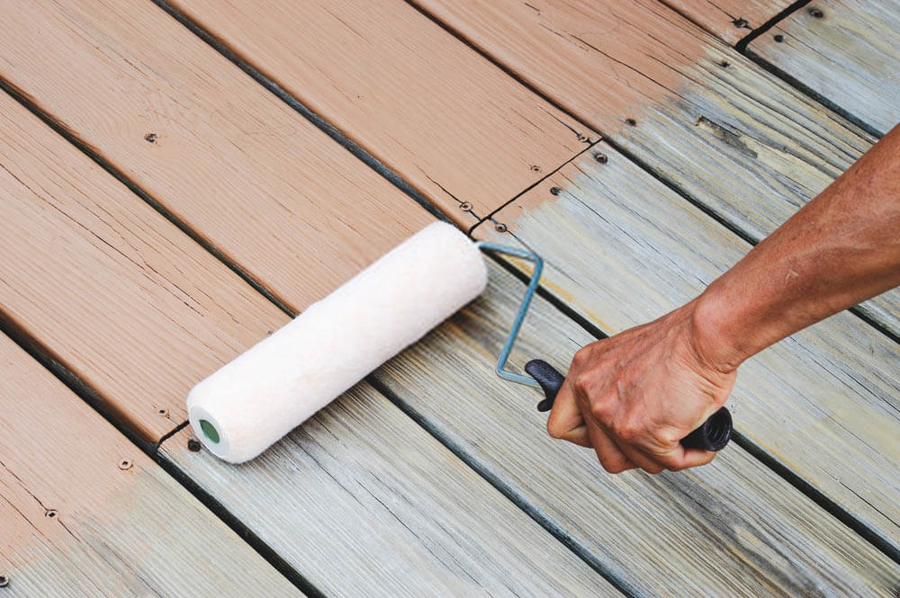 short handle deck stain roller