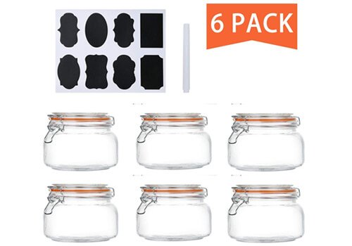 Encheng 16 Oz Glass Jars