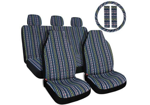 Copap 10pc Multi-Color Baja Saddle Blanket Car Seat Covers