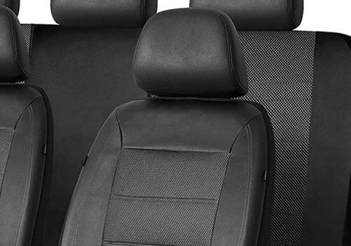 PIC AUTO Universal Fit Full Set Mesh & Leather Car Seat Cover