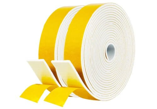 Fowong Store White Foam Strip with Adhesive