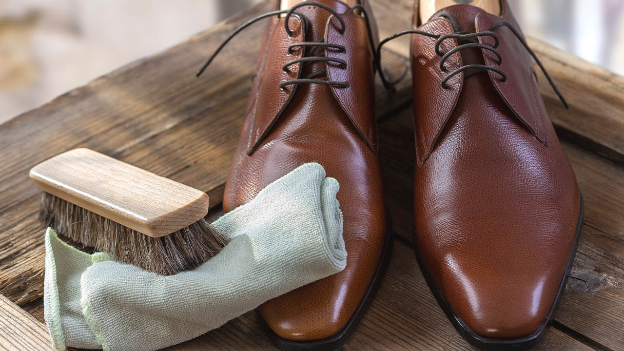 Maintaining Tan Leather Shoe