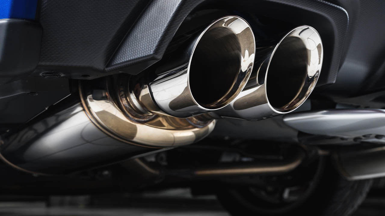 Straight Stainless Steel Muffler with Two Exhaust
